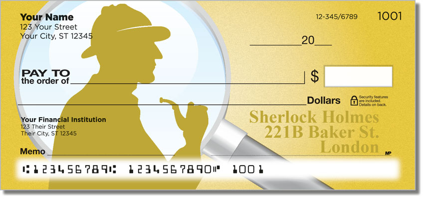 Get Sherlock Holmes Themed Personalized Checks