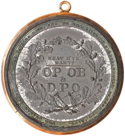 Shakespeare Holmes Medal Reverse