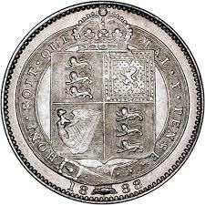 1888 Shilling Rev