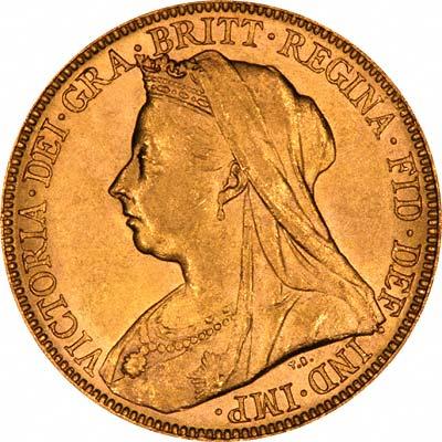 1899 Victoria Old Head Obv