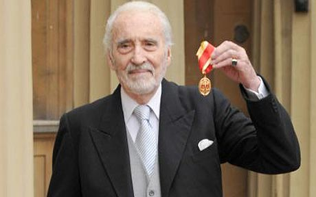 Christopher Lee knighted - June 13, 2009