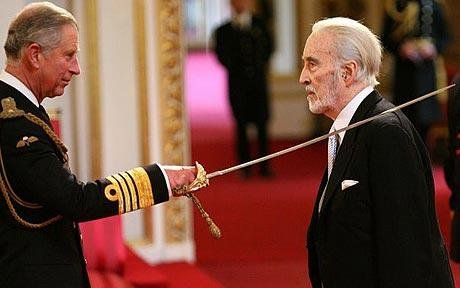 Christopher Lee knighted