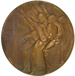 McKenzie's Three Punters Medal, photo by H. Joseph Levine