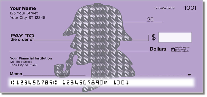 Four More Mystery / Sherlockian Themed Checks