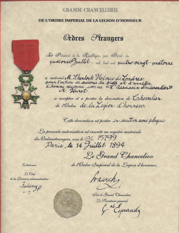 ICYMI: The French Legion of Honour