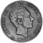 1878 Spanish 10 Centimes