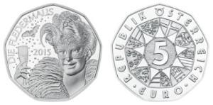 2015 Austrian Die Fledermaus 5 Euro