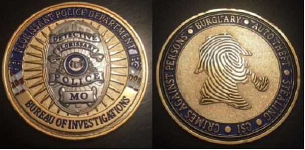 Florissant Police Department Challenge Coin Featuring Holmes | The