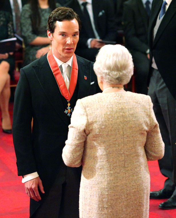 Benedict Cumberbatch honoured with CBE by Queen at Buckingham Palace