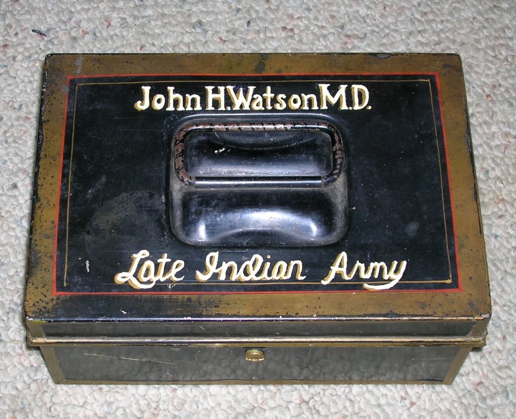 Dr. Watson's tattered tin dispatch box ~ The very one!