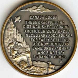 Longines Goose Medal REV