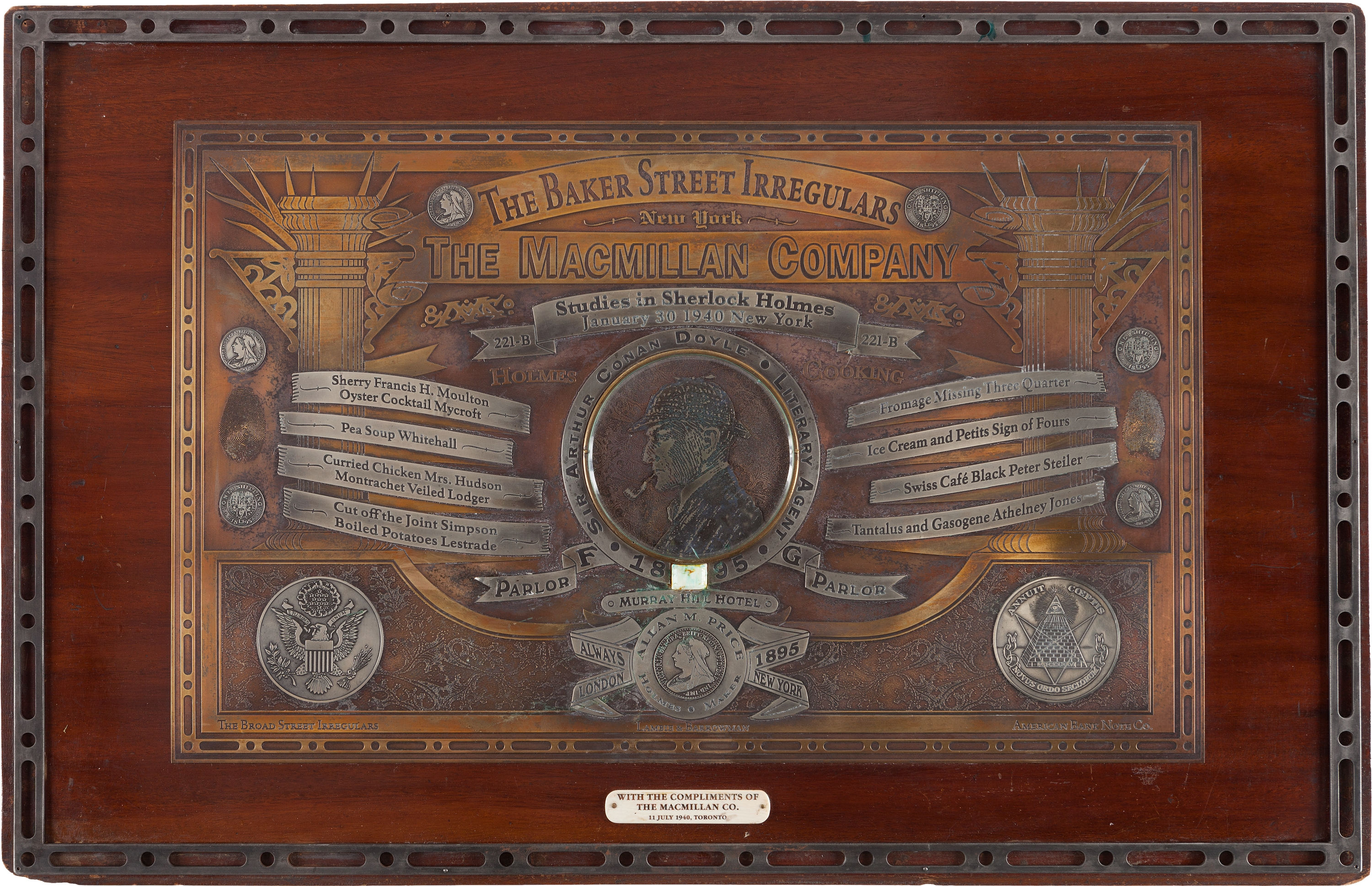 Heritage Auctions' May 2, 2014 Auction Lot Description of the Toronto Irregular Plate