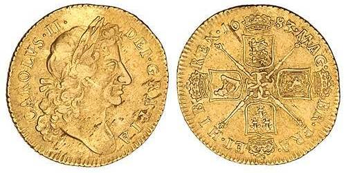 Guinea. Charles II. 1663