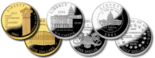 2001 Capitol Visitor Center Coins (with a Sherlockian angle)