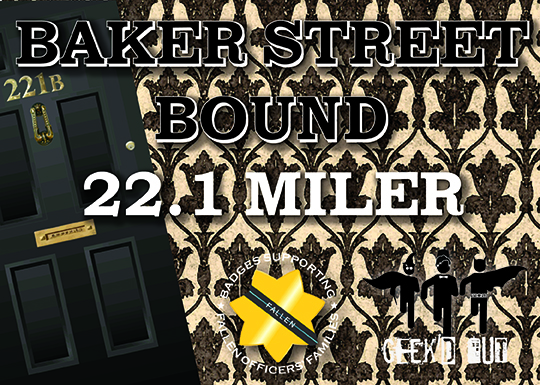 Virtual 22.1 Mile Baker Street Bound Run Issuing Medal