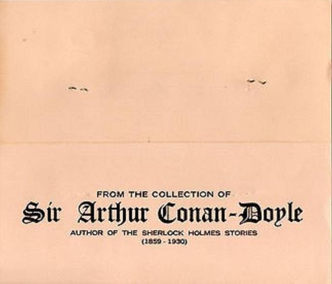 """MTB's """"Attractive Folder"""" For Arthur Conan Doyle's Ancient Coins"""
