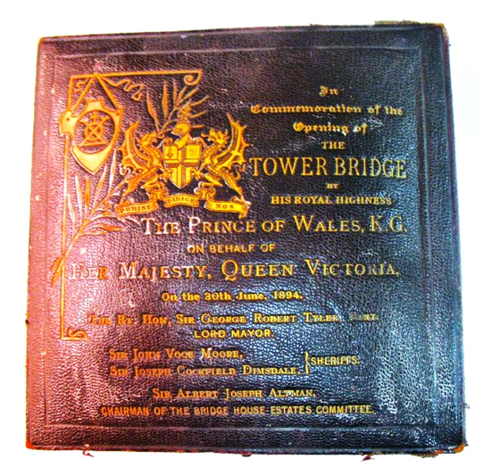 Tower Bridge Opening Medal CASE
