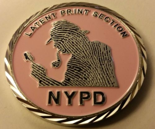 NYPD Latent Print Section Issues Pink Sherlock Themed Challenge Coin