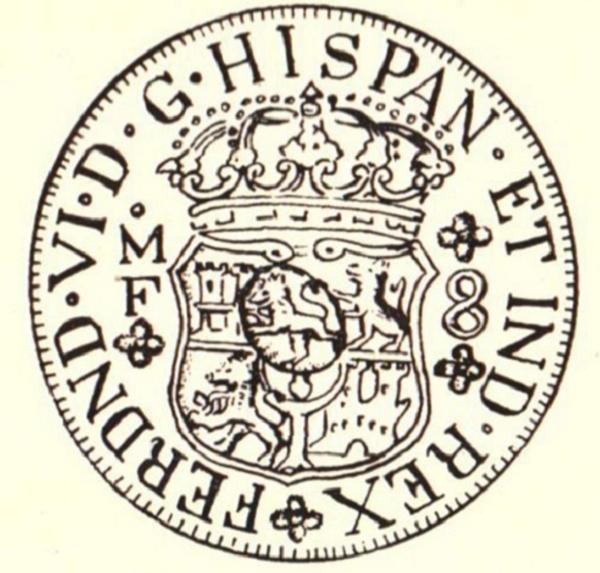 Exhibit A Dos Mundos with lion countermark