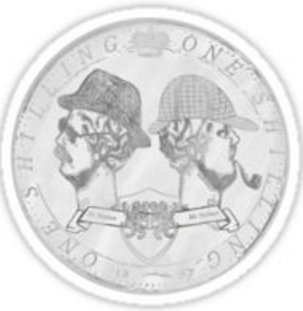 Sherlockian / Coin Themed Items Available on Redbubble