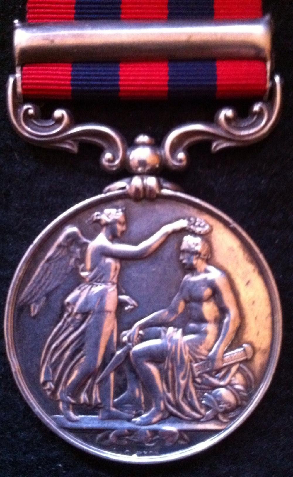 The Indian General Service Medal of Colonel Sebastian Moran