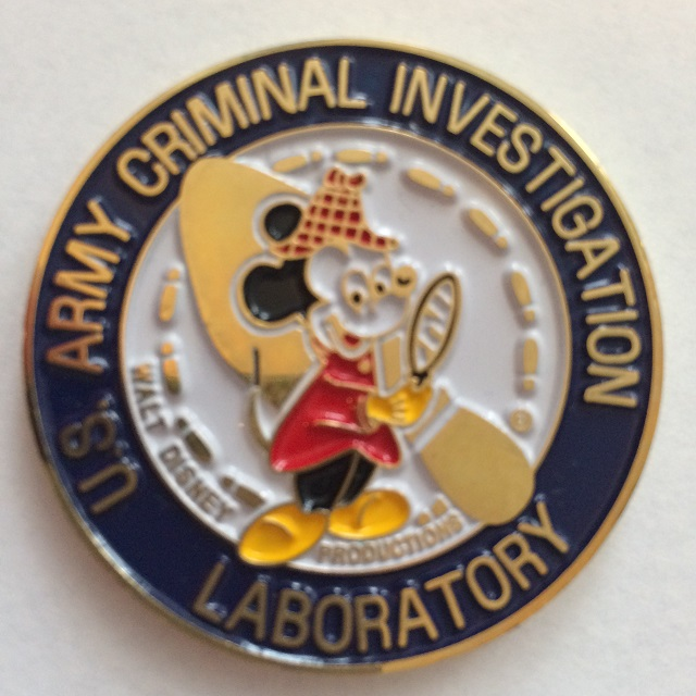 A Third U.S. Army Criminal Investigation Laboratory Challenge Coin