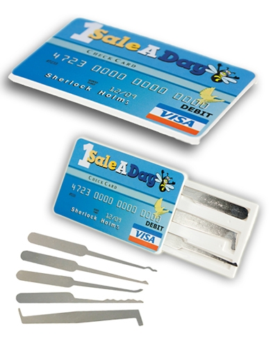 The Sherlock Holmes Credit Card Lock Pick Set