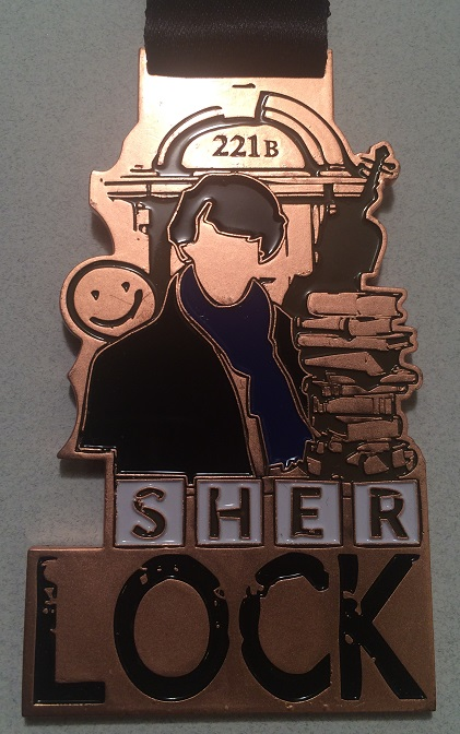The WhoLock Virtual Run Medal