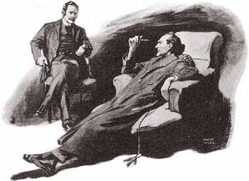 'Cut out the poetry, Watson,' said Holmes severely. - Illustration by Frank Wiles in The Strand Magazine, January 1927