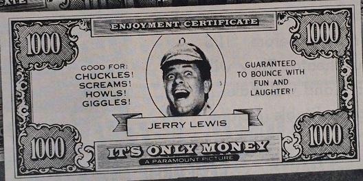 Sherlockian Themed Jerry Lewis Enjoyment Certificates