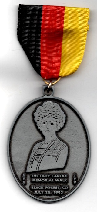The Lady Carfax Memorial Walk Medal