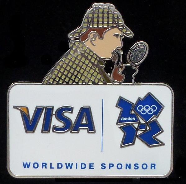 Visa's 2012 London Olympic Games Sherlock Holmes Pin