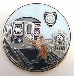 NYPD's Transit Police Sherlockian Themed Challenge Coin