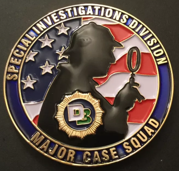 NYPD's Special Investigations Division Major Case Squad Challenge Coin