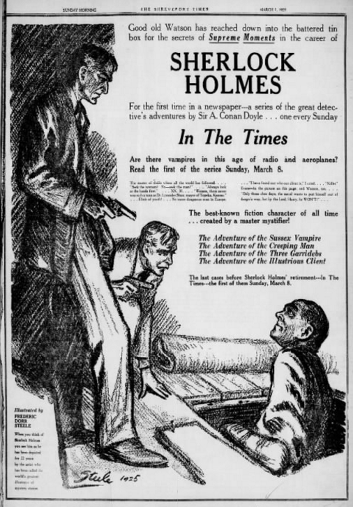 1925 Newspaper Advertisements for The Three Garridebs