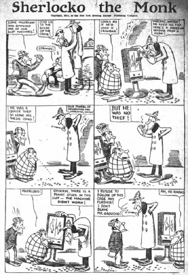 Sherlocko the Monk: The Mystery of the Busted Slot Machine (August 25, 1911)