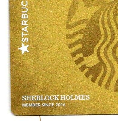 Sherlockian Starbucks Rewards Gold Cards