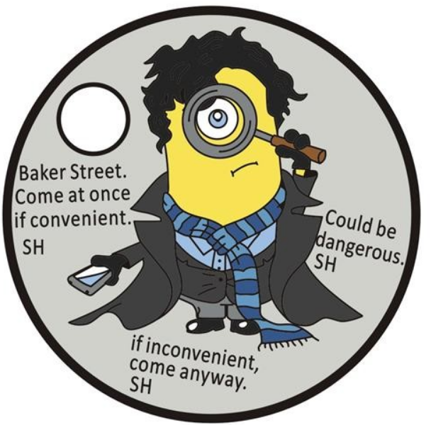 Sherlockian Themed Pathtag Geocoins