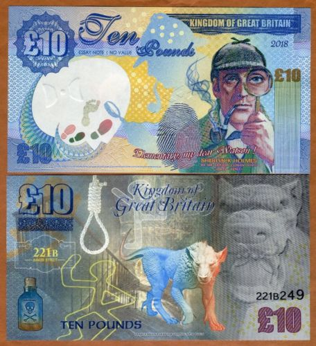 An Update about the Fantasy 10 Pound Kingdom of Great Britain Banknotes