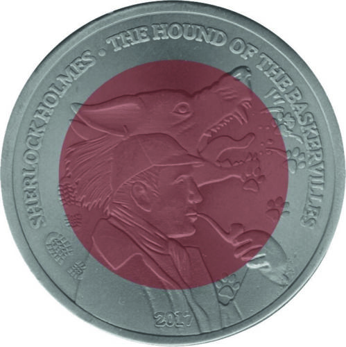 """Ghana"" issues 2017 Hound of the Baskervilles 2 Cedis Coin"
