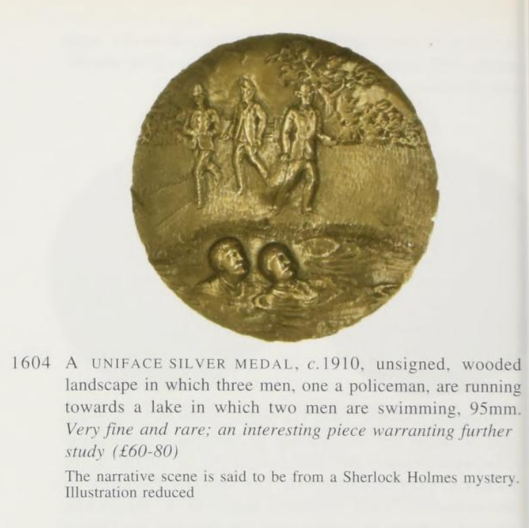 Update on HolmeWork Assignment: A Sherlock Holmes Silver Medal from the 1890's?