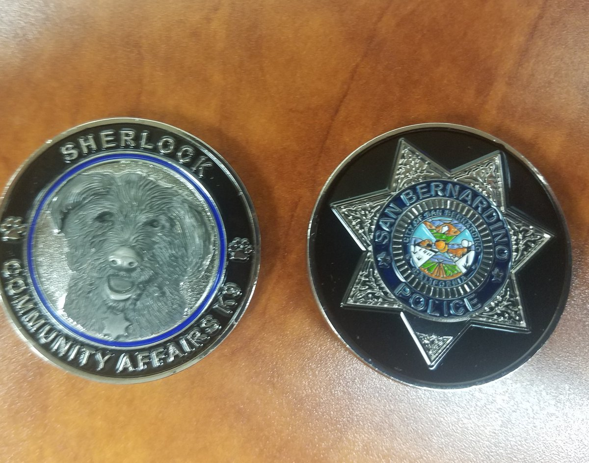 "San Bernadino Police Department Issues Challenge Coin for ""Sherlock"""