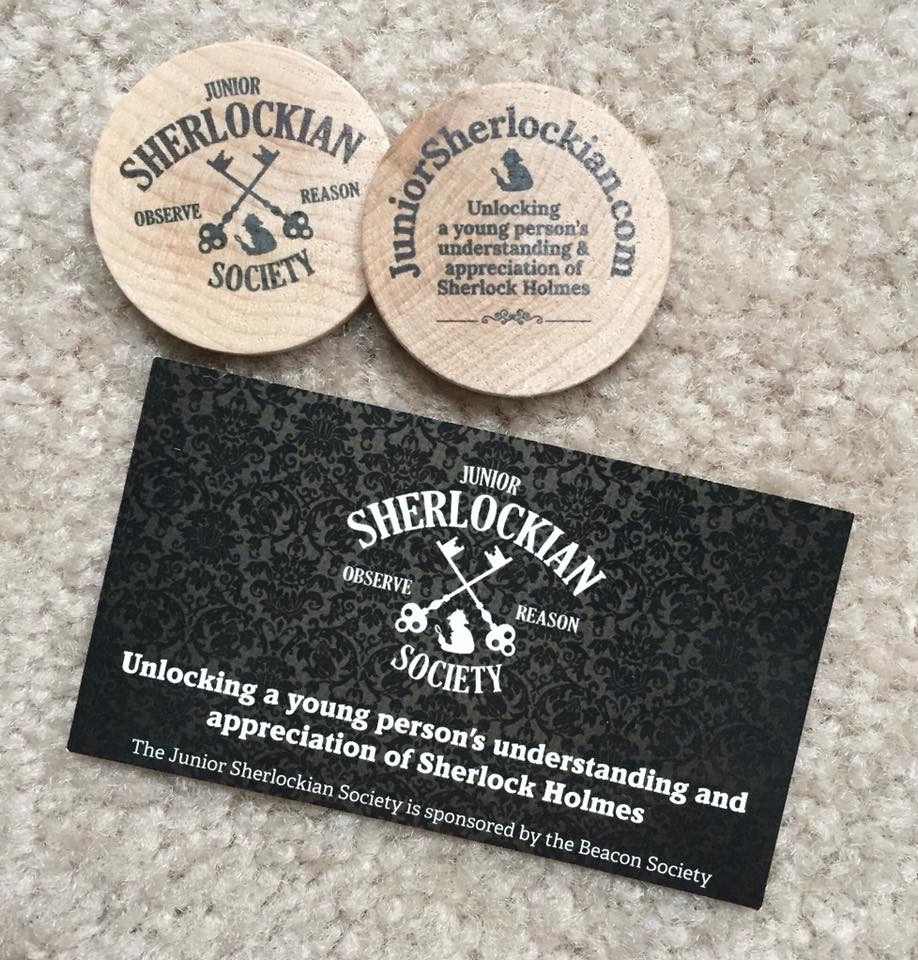 Junior Sherlockian Society Issued Wooden Nickel at 2018 BSI Dinner