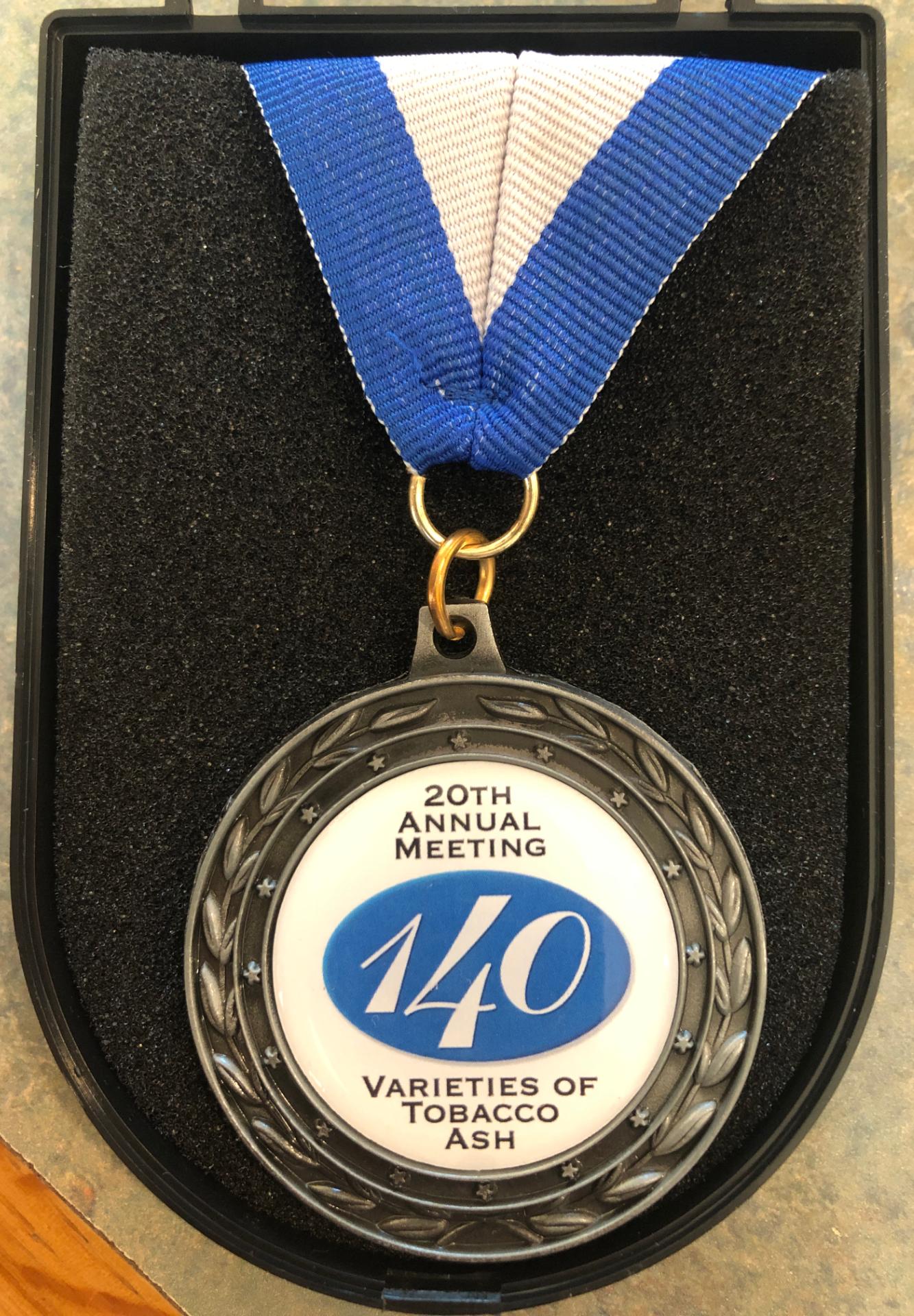 The 2018 140 Varieties of Tobacco Ash Dinner Medal