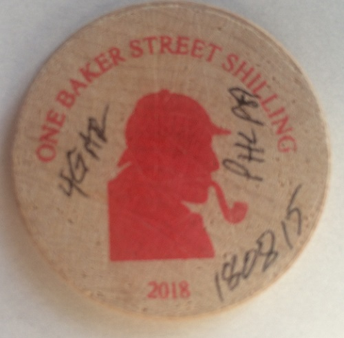 Bob Fritsch Issued His Second Sherlockian Wooden Nickel
