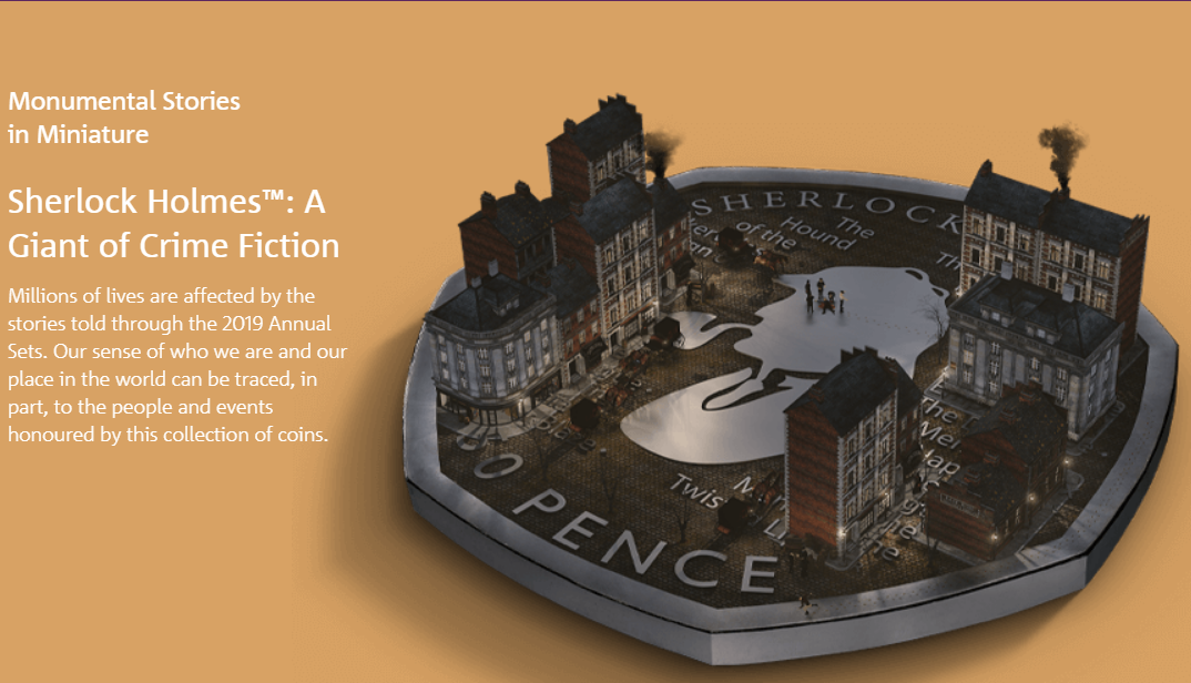 British Royal Mint Graphic for the Sherlock Holmes Coin