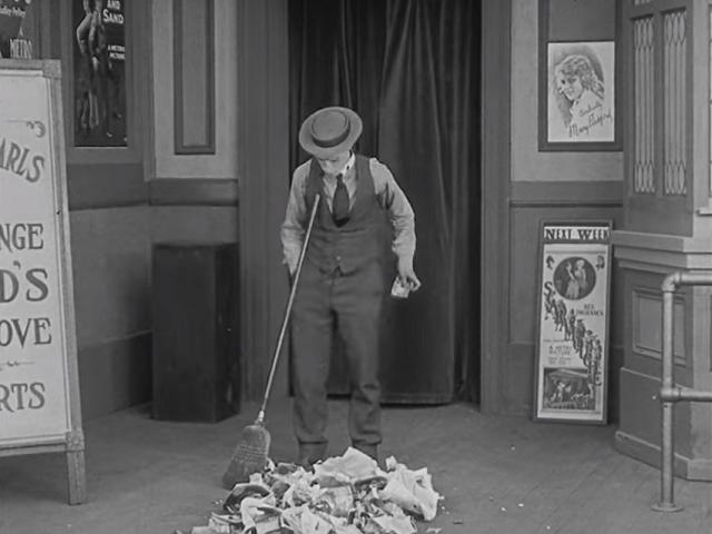 Buster Keaton Finds A Silver Certificate in Sherlock Jr.