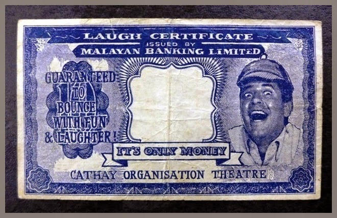 Sherlockian Themed Jerry Lewis Laugh Certificates From Malaysia