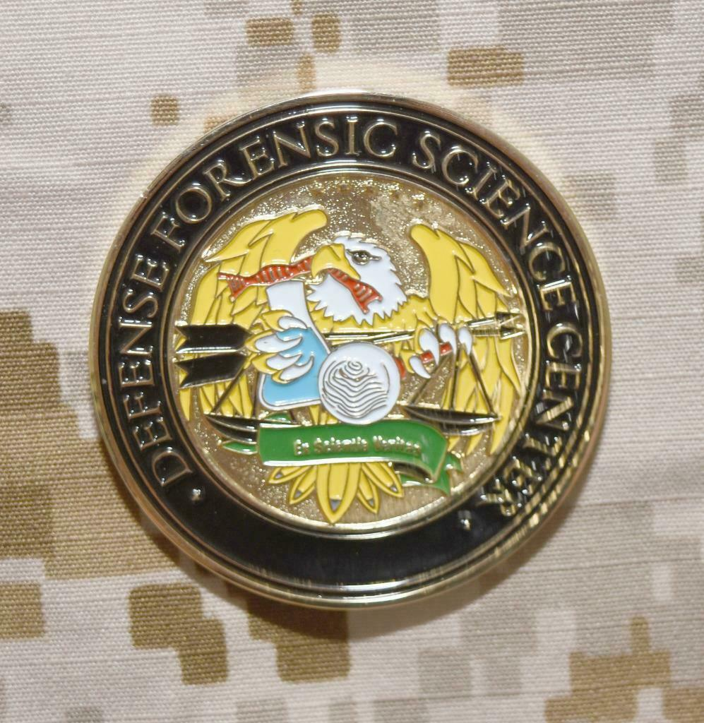 The Defense Forensic Science Center Challenge Coin