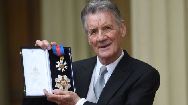 Michael Palin Now a Knight Commander of the Order of St Michael and St George (KCMG)